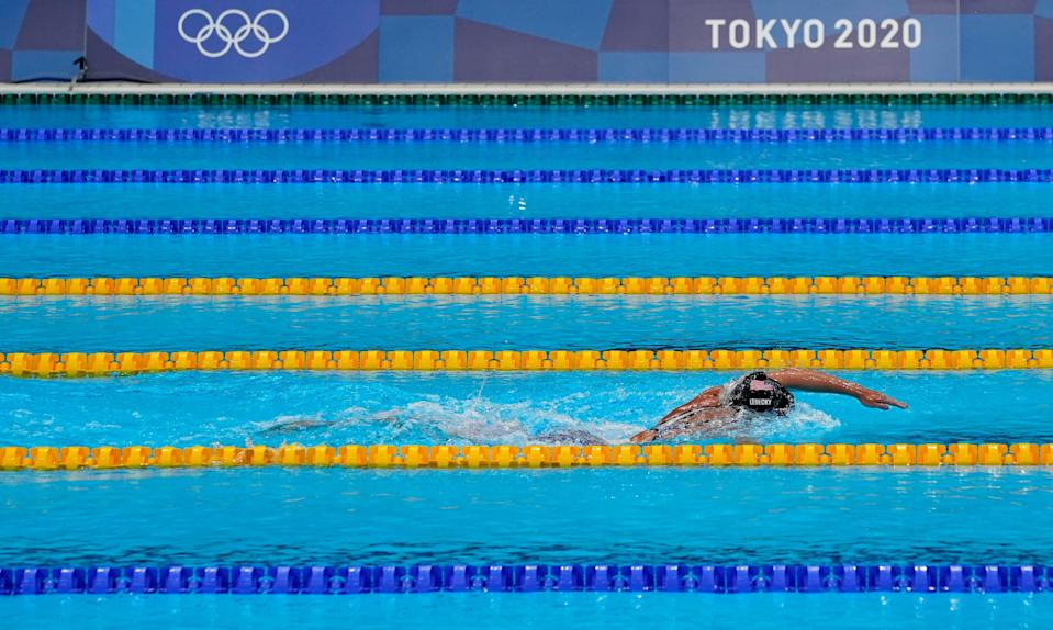 Katie Ledecky dominated the women's 1,500-meter freestyle at the Tokyo Olympics.