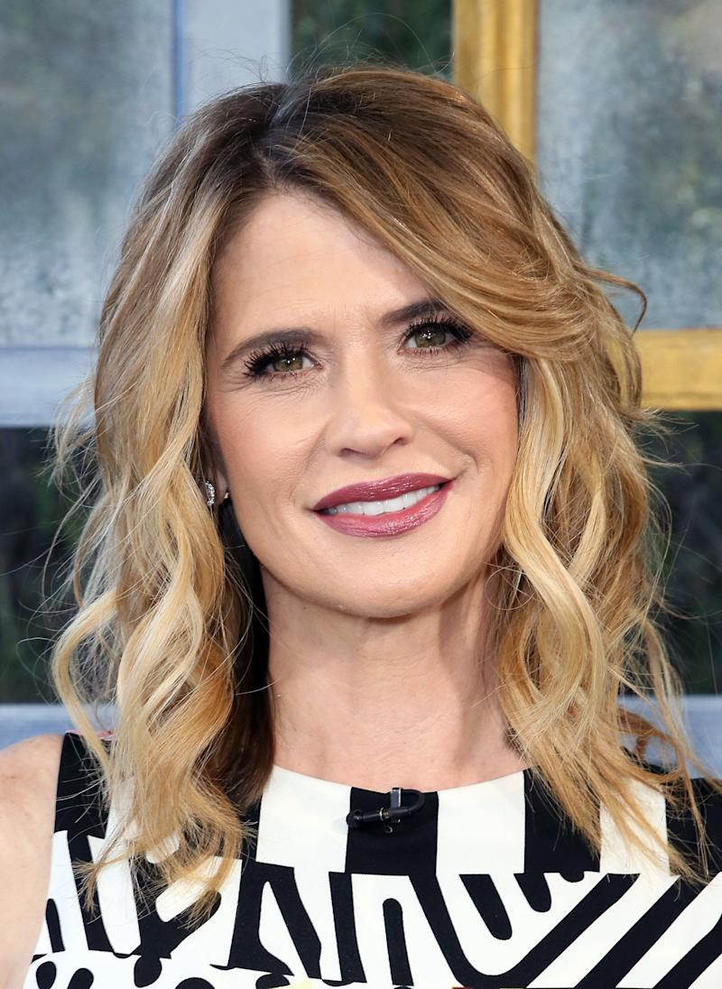 "UNIVERSAL CITY, CA - JANUARY 24: Actress Kristy Swanson visits Hallmark's ""Home & Family"" at Universal Studios Hollywood on January 24, 2018 in Universal City, California. (Photo by David Livingston/Getty Images)"