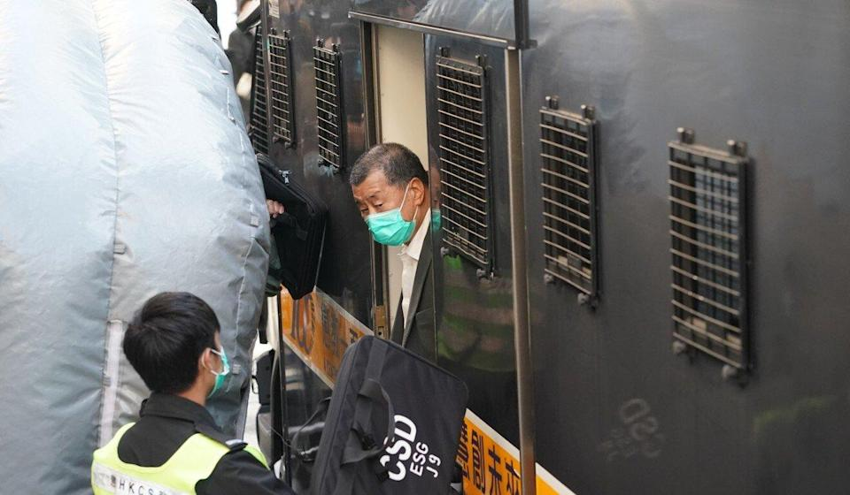 Jimmy Lai is currently remanded in custody. Photo: Felix Wong