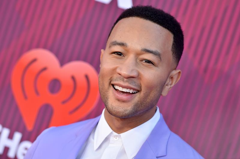John Legend arrives at the 2019 iHeartRadio Music Awards on March 14 in Los Angeles. (Axelle/Bauer-Griffin via Getty Images)
