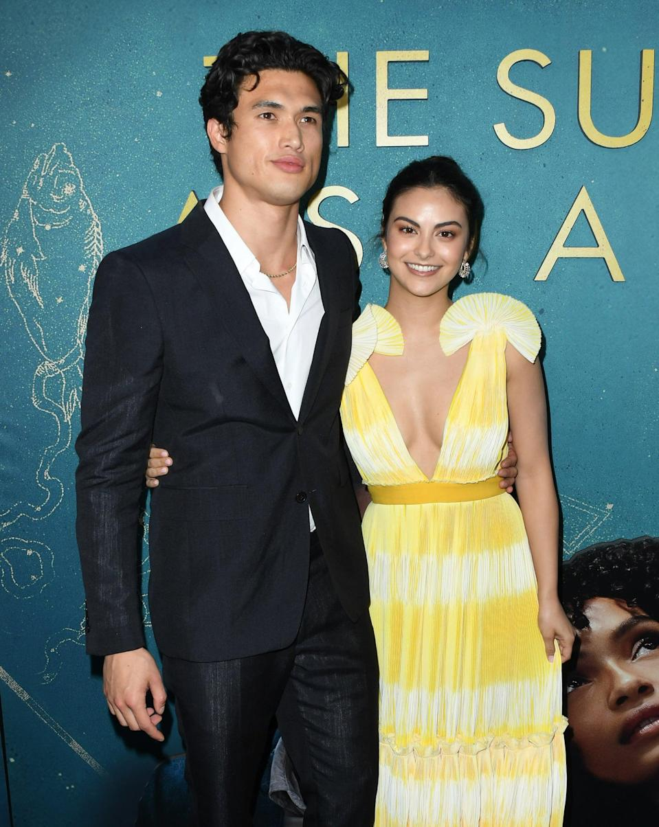 """<p>Camila and Charles met on the set of <strong><a class=""""link rapid-noclick-resp"""" href=""""https://www.popsugar.com/Riverdale"""" rel=""""nofollow noopener"""" target=""""_blank"""" data-ylk=""""slk:Riverdale"""">Riverdale</a></strong> when Charles joined the cast in season two as Camila's love interest, but they didn't start dating until 2018. The two went their separate ways in 2019, and - like Lili and Cole - they are currently still starring in the series as Veronica and Reggie. </p> <p>The exes have yet to publicly comment on their breakup, but back in May 2019 while the couple was still together, Camila told <strong>Teen Vogue </strong><a href=""""http://www.teenvogue.com/story/camila-mendes-may-cover"""" class=""""link rapid-noclick-resp"""" rel=""""nofollow noopener"""" target=""""_blank"""" data-ylk=""""slk:she didn't think it would be a big deal"""">she didn't think it would be a big deal</a> if she and Charles were to split. """"That's a part of life,"""" she said of breakups. """"I wouldn't be embarrassed about it. It happens. I know I'm happy, and I know where I am in my life, so I'm going to let [people on Twitter] say whatever they want. Why should I care?""""</p>"""
