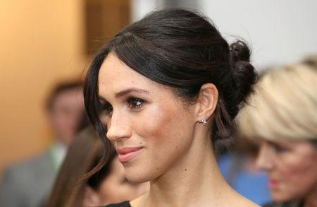 FILE PHOTO: Meghan Markle attends the Women's Empowerment reception hosted by Foreign Secretary Boris Johnson during the Commonwealth Heads of Government Meeting at the Royal Aeronautical Society