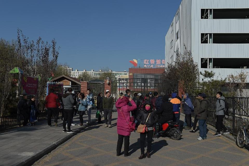 The RYB Education New World kindergarten in Beijing is under fire after allegations of child abuse (AFP Photo/NICOLAS ASFOURI)