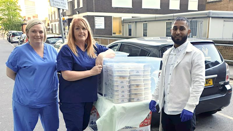 Curry chefs delivering thousands of free meals to thank hospital staff