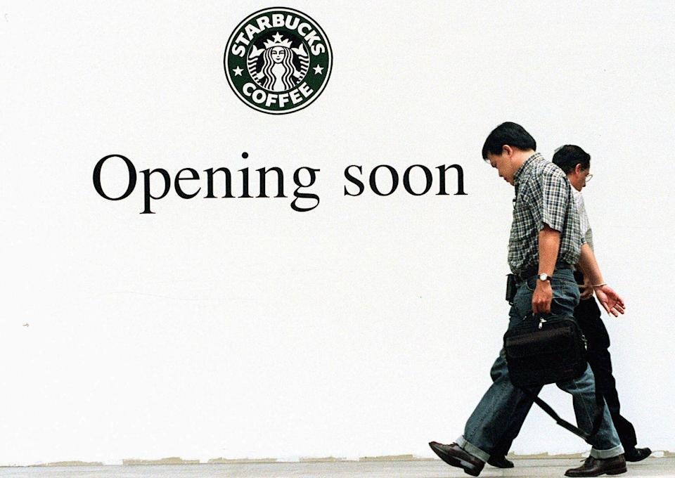 <p>Starbucks opened its first stores outside of North America in 1996 in Japan and Singapore. </p>