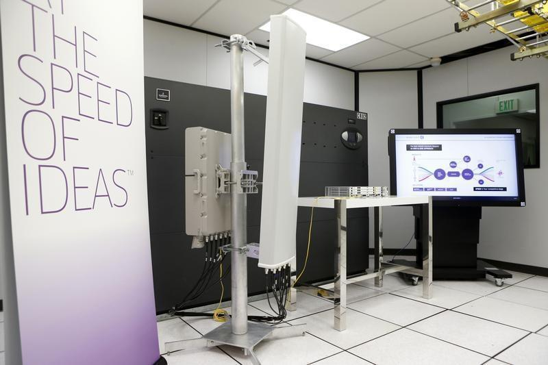 Sprint's Spark technology capable of 1 Gbps download is displayed during tour of Sprint's laboratory in Burlingame