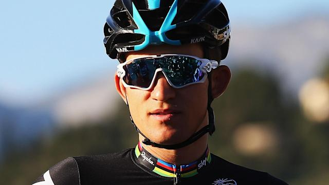 Team Sky rider triumphed in the Milan-San Remo, edging Peter Sagan in the final stretch.