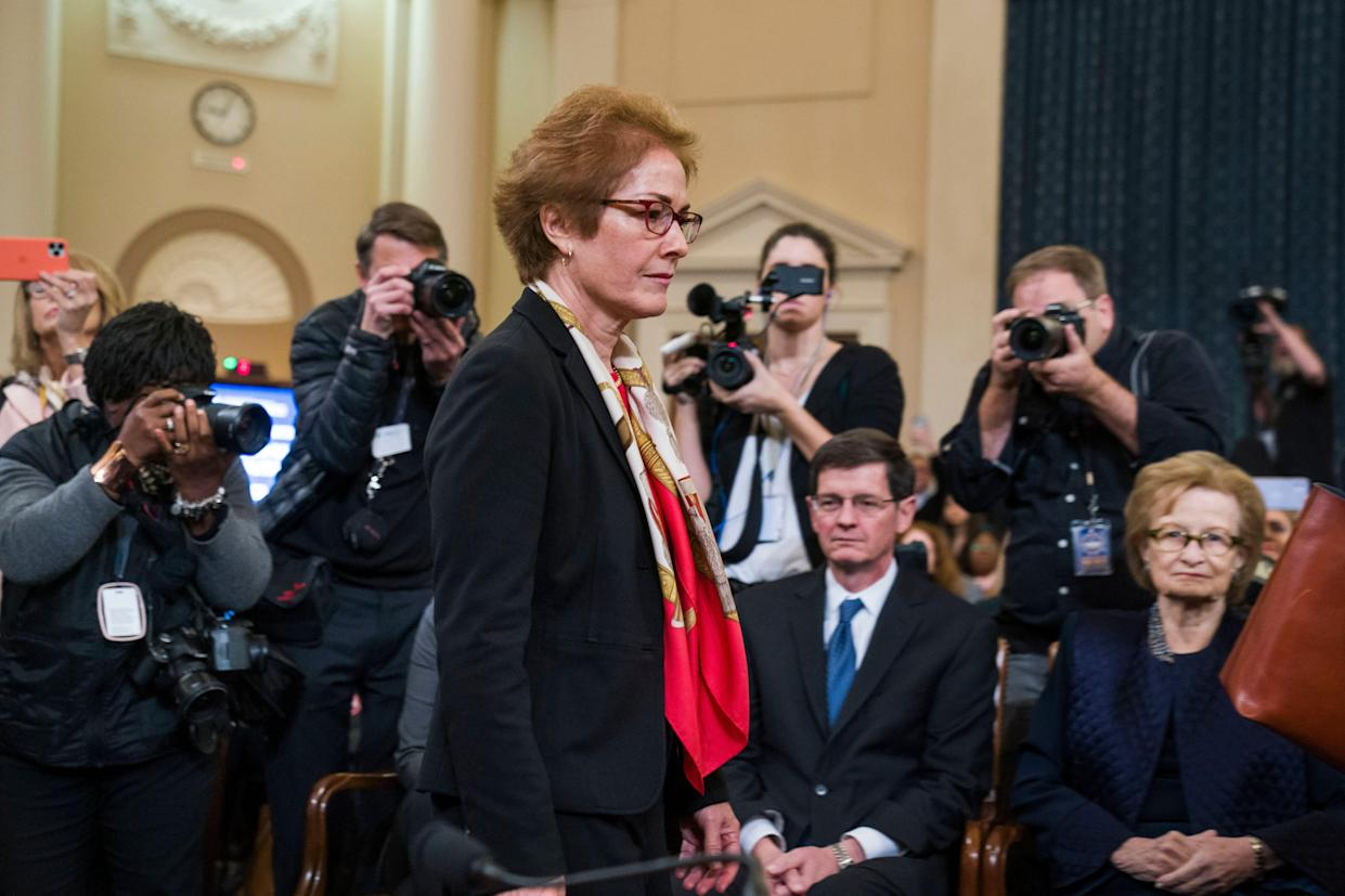 Former US Ambassador to Ukraine Marie Yovanovitch testifies on Capitol Hill in Washington, DC, on Nov. 15, 2019. (Photo: Jim Lo Scalzo/EPA-EFE/Shutterstock)