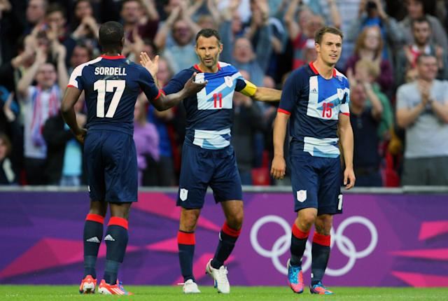 Marvin Sordell playing forGreat Britain as part of the 2012 London Olympic Games. (Credit: Getty Images)