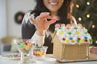 <p>Set up the kids with a gingerbread house kit and you won't hear a peep from them all day (except maybe to ask if you've got any more gum drops). Crank up the competitive spirit by offering prizes for the most creative, the ugliest or the most lifelike creation. </p>