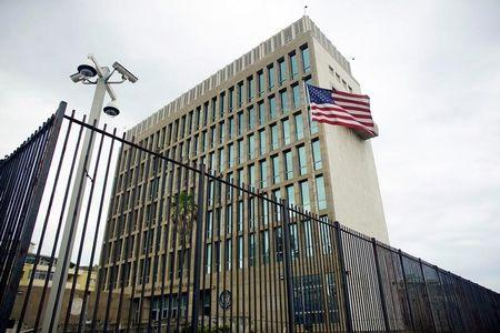 FILE PHOTO: An exterior view of the U.S. Embassy is seen in Havana, Cuba