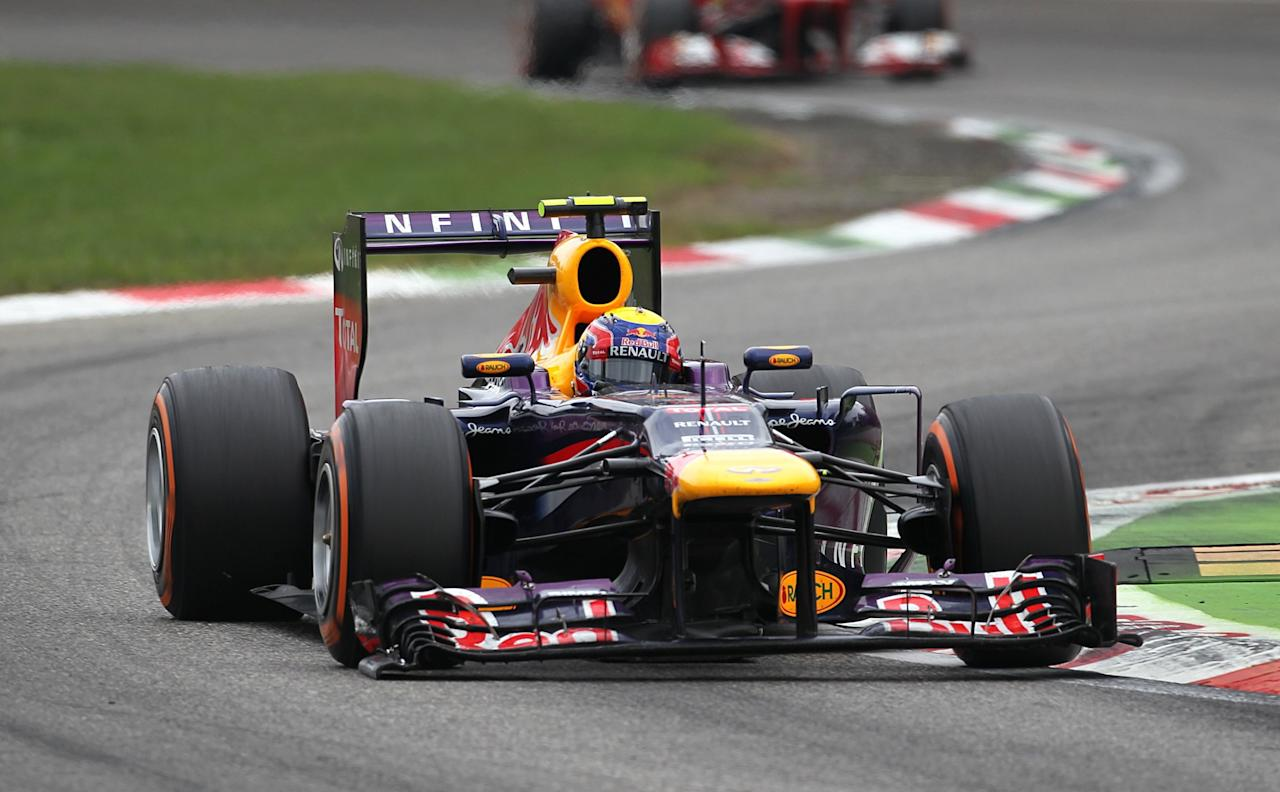 Red Bull Racing's Mark Webber during the Italian Grand Prix and the Autodromo Nazionale Monza, Monza, Italy.