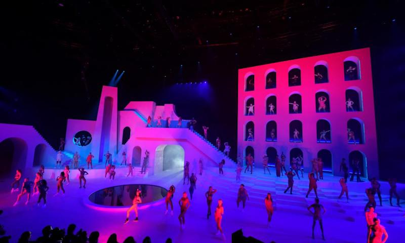 A view of the stage during Savage X Fenty Show