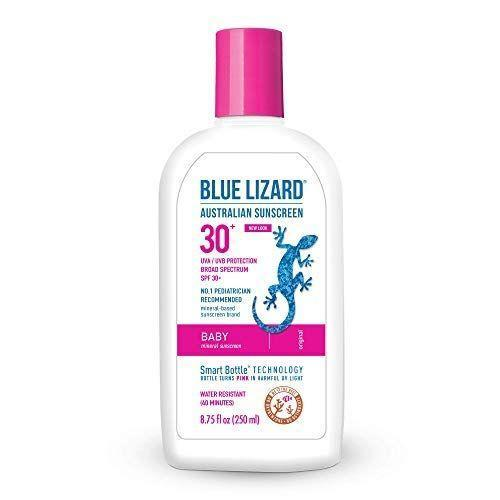 """<p><strong>Blue Lizard</strong></p><p>amazon.com</p><p><strong>$25.99</strong></p><p><a href=""""https://www.amazon.com/dp/B000AU15E0?tag=syn-yahoo-20&ascsubtag=%5Bartid%7C10055.g.20688867%5Bsrc%7Cyahoo-us"""" rel=""""nofollow noopener"""" target=""""_blank"""" data-ylk=""""slk:Shop Now"""" class=""""link rapid-noclick-resp"""">Shop Now</a></p><p>Parents love the protection this Blue Lizard sunscreen offers <em>and</em> the reminder to apply: The <strong>bottle turns pink when it's in the presence of UV rays </strong><strong>to remind you when it's time to reapply</strong>. It shields your kid's skin from the sun by using a combination of mineral zinc oxide and titanium dioxide. """"I loved that it didn't give me that burning sensation I have always gotten from sunscreens,"""" <a href=""""https://www.amazon.com/gp/customer-reviews/R1TA3F8796E0OY/?tag=syn-yahoo-20&ascsubtag=%5Bartid%7C10055.g.20688867%5Bsrc%7Cyahoo-us"""" rel=""""nofollow noopener"""" target=""""_blank"""" data-ylk=""""slk:writes one Amazon reviewer"""" class=""""link rapid-noclick-resp"""">writes one Amazon reviewer</a>. </p>"""
