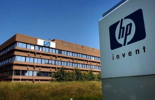File photo shows the Hewlett-Packard headquarters in Brussels. Hewlett-Packard said it plans to cut 27,000 jobs, or 8% of its global workforce, by 2014 in a major restructuring effort for the computer giant