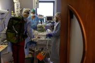 Northern French hospital battles to save lives