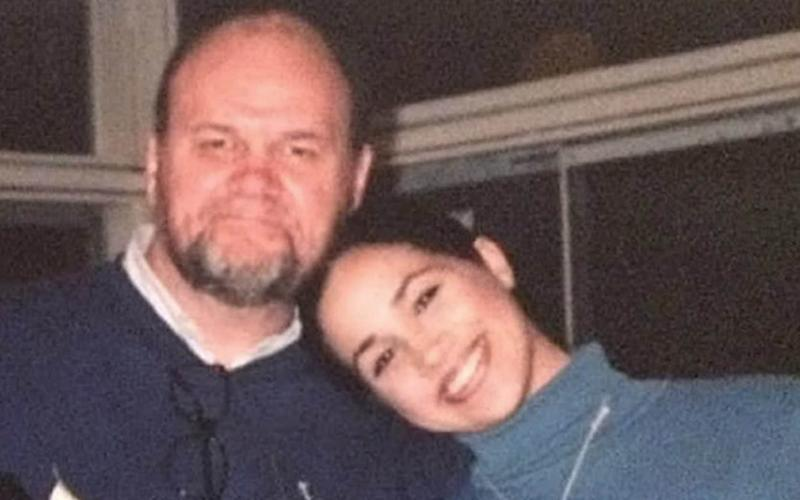 In apersonal statement, Meghan Markle said: 'I have always cared for my father and hope he can be given the space he needs to focus on his health' - Enterprise News and Pictures