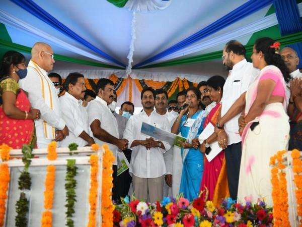 Andhra Pradesh Chief Minister YS Jagan Mohan Reddy at the event.