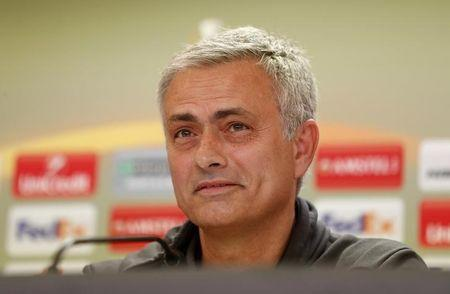 Soccer Football - Manchester United Press Conference - Balaidos Stadium, Vigo, Spain - 3/5/17 Manchester United manager Jose Mourinho during the press conference  Action Images via Reuters / Carl Recine Livepic