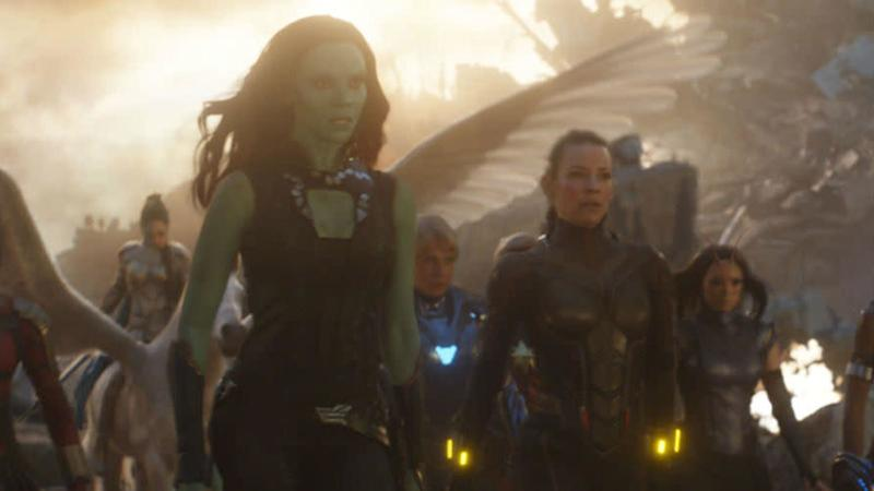 Zoe Saldana's Guardian fought alongside the Avengers (Credit: Marvel)