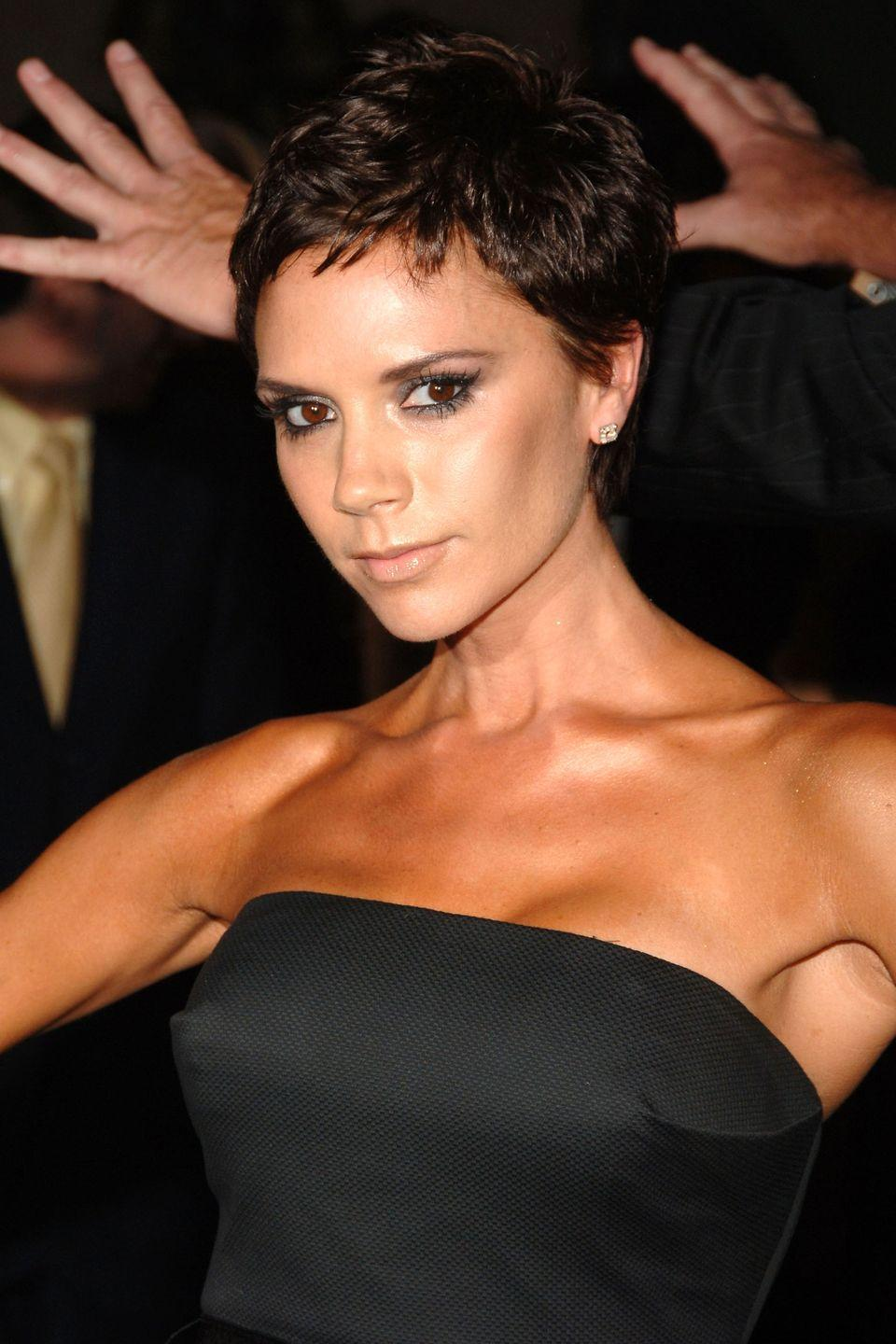 <p>Actress Victoria Beckham may not still have the Posh bob, but this effortless cool-girl cut, with short layers and little bangs, is just as good. </p>