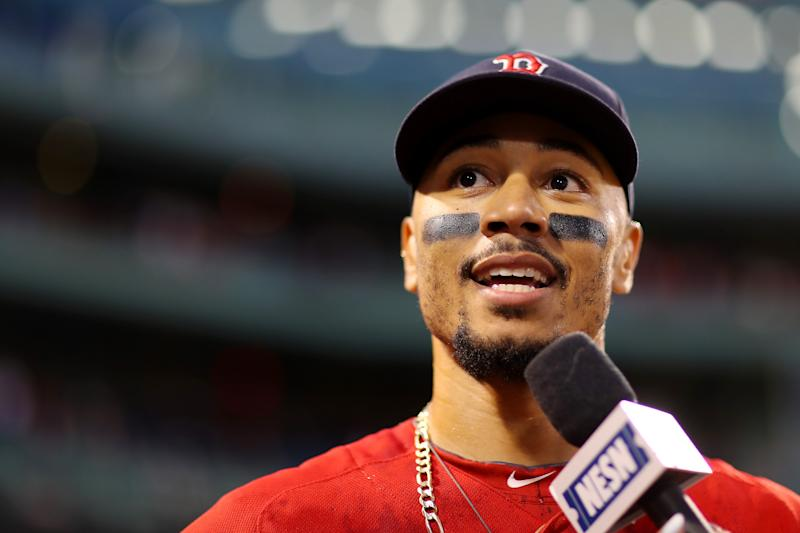 There were plenty of mixed reactions to the news that the Red Sox traded Mookie Bets to the Dodgers on Tuesday night. (Maddie Meyer/Getty Images)
