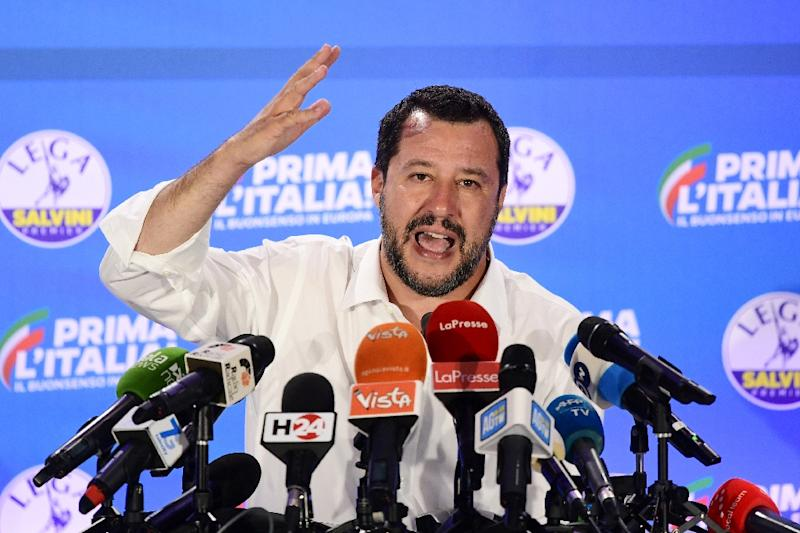 Italian Interior Minister Matteo Salvini has seen his popularity soar in the last year with a hard line against migrants which has included closing ports to rescue vessels