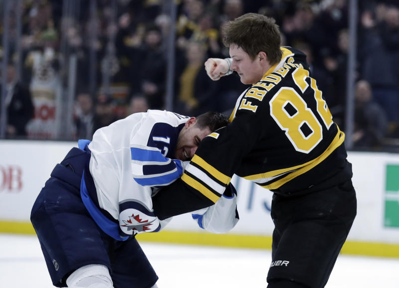 online store 45a8d 5ad99 Two parents got way excited watching son's first NHL fight