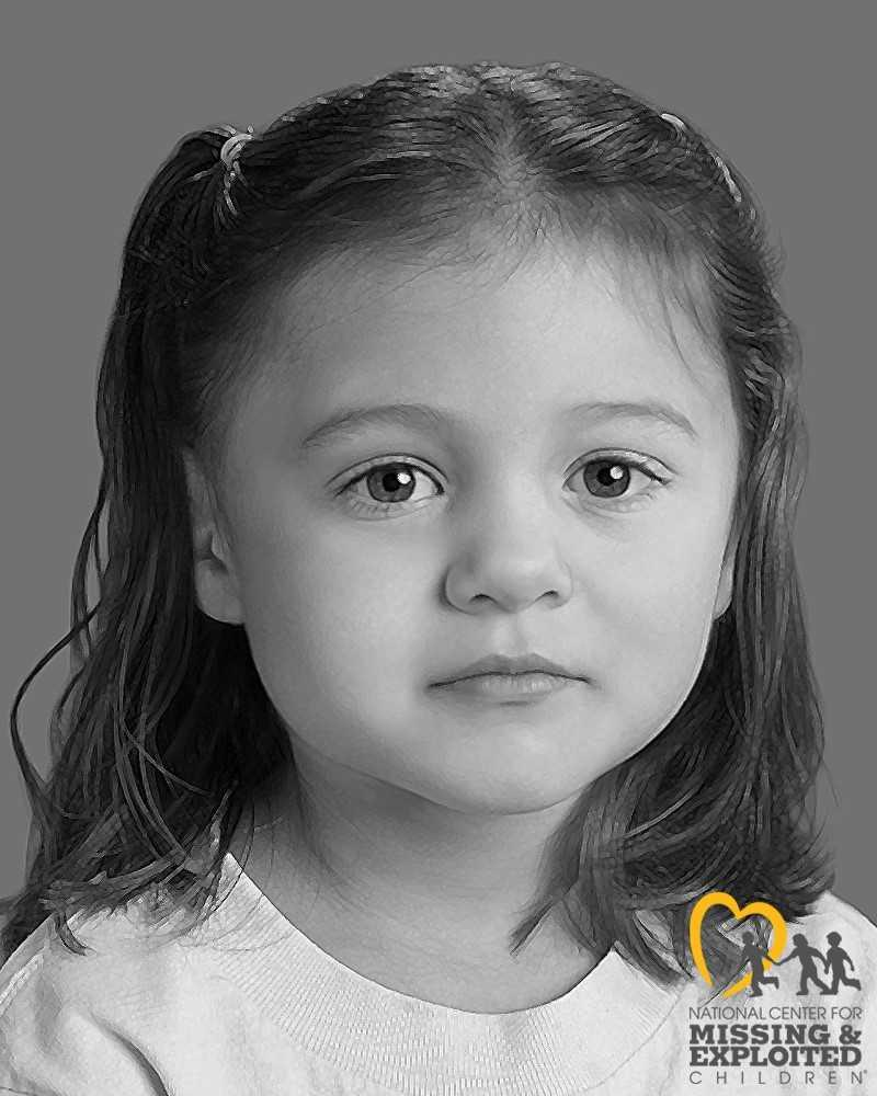 Two months after a child's remains were foundat theLittle Lass softball fields in Smyrna, police have released asketch of what they believe the little girl looked like.