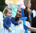 <p>But she wasn't so smiley when it came to balloons.<br><i>[Photo: PA]</i> </p>
