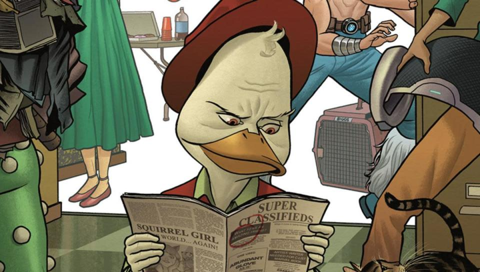 Art for the most recent Marvel Comics Howard the Duck series.