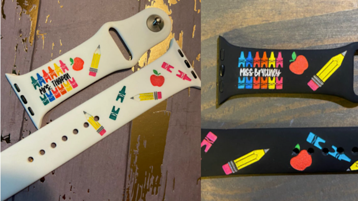 Customize your watch band to match your passion for teaching.