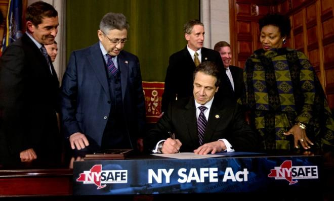 Gov. Cuomo signs New York's Secure Ammunition and Firearms Enforcement Act into law on Jan. 15.