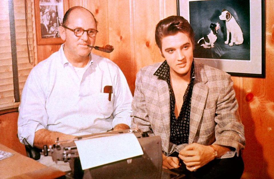Col. Tom Parker and Elvis Presley appear together in this undated photo from the '50s or '60s. (Photo: GAB Archive/Redferns)