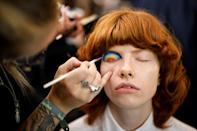 London Fashion Week returned for its first major in-person shows since the start of the pandemic (AFP/Tolga Akmen)