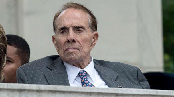 PHOTO: Former Republican senator Bob Dole attends a Memorial Day ceremony at Arlington National Cemetery in Arlington, Virginia, May 29, 2017. (Nicholas Kamm/AFP via Getty Images, FILE)
