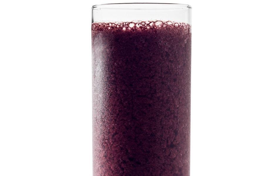 """Raspberries or blackberries can be swapped in for the blueberries. <a href=""""https://www.bonappetit.com/recipe/coconut-blueberry-smoothie?mbid=synd_yahoo_rss"""" rel=""""nofollow noopener"""" target=""""_blank"""" data-ylk=""""slk:See recipe."""" class=""""link rapid-noclick-resp"""">See recipe.</a>"""