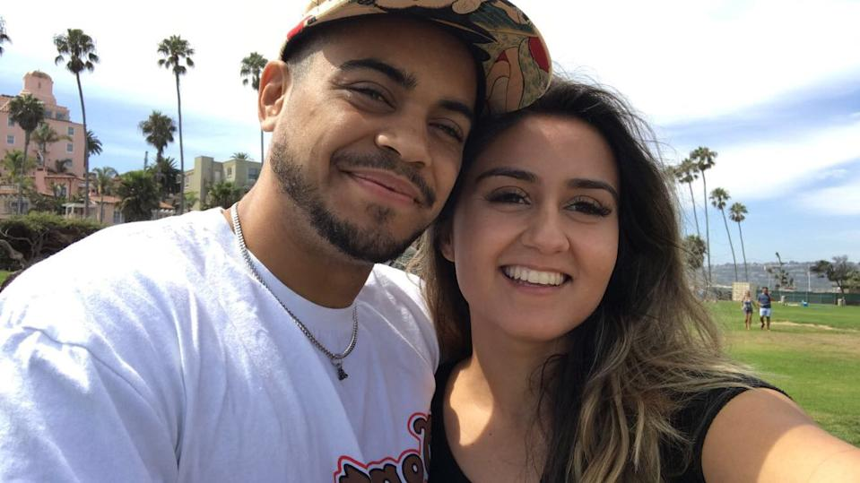 David Mijares and his girlfriend Valerie Casillas. (Photo courtesy of Sheer Sports Management)