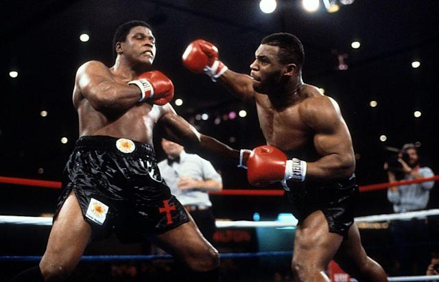 November 1986: After Berbick survived a knockdown in the first few seconds of the second round, Tyson landed the title-winning left hook, that left Berbick disoriented and he fell across the ring. Tyson won the fight with a technical knockout.