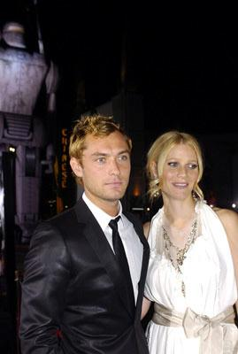 """Premiere: <a href=""""/movie/contributor/1800018936"""">Jude Law</a> and <a href=""""/movie/contributor/1800018601"""">Gwyneth Paltrow</a> at the Hollywood premiere of Paramount Pictures' <a href=""""/movie/1808466198/info"""">Sky Captain and the World of Tomorrow</a> - 9/14/2004<br>Photo: <a href=""""http://www.wireimage.com/"""">Lester Cohen, WireImage.com</a>"""