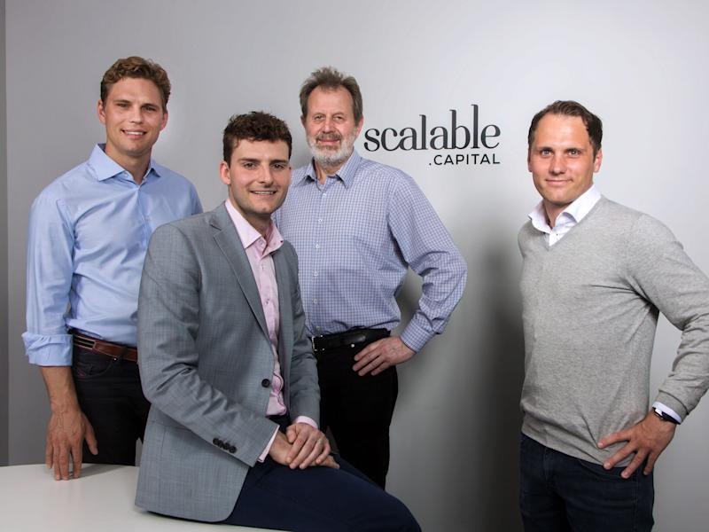 Scalable Capital's founding team. Photo: Scalable Capital