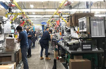 Hydraulic valve manufacturer HydraForce Inc. employees work in the firm's plant in Lincolnshire, Illinois, U.S., January 10, 2018. Photo taken January 10 2018.    REUTERS/Ann Saphir