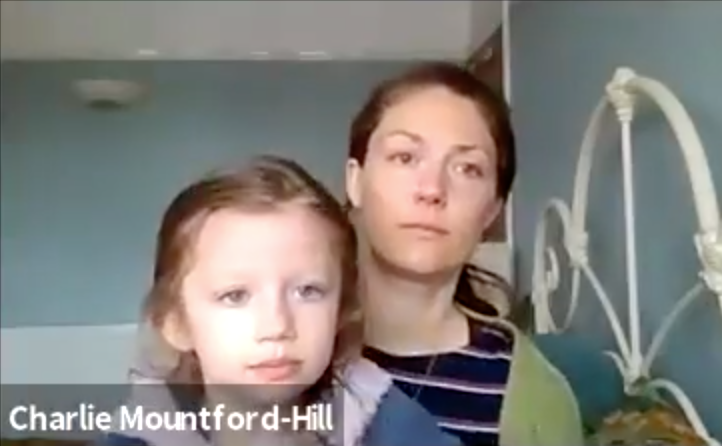 Charlie Mountford-Hill and her daughter Mimi.