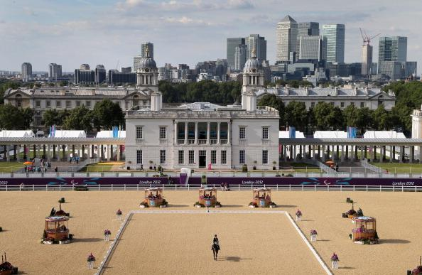 General view of Greenwich Park equestrian venue as competitors take part the Dressage event on day 2 of the London 2012 Paralympic Games at Greenwich Park on August 31, 2012 in London, England. (Photo by Chris Jackson/Getty Images)