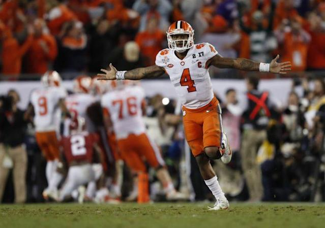 Deshaun Watson is one of the top quarterback prospects in this year's draft. (AP)