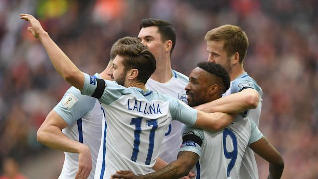 "Liverpool playmaker Adam Lallana felt surreal playing alongside Jermain Defoe for England, while Dele Alli praised a goalscoring ""legend""."