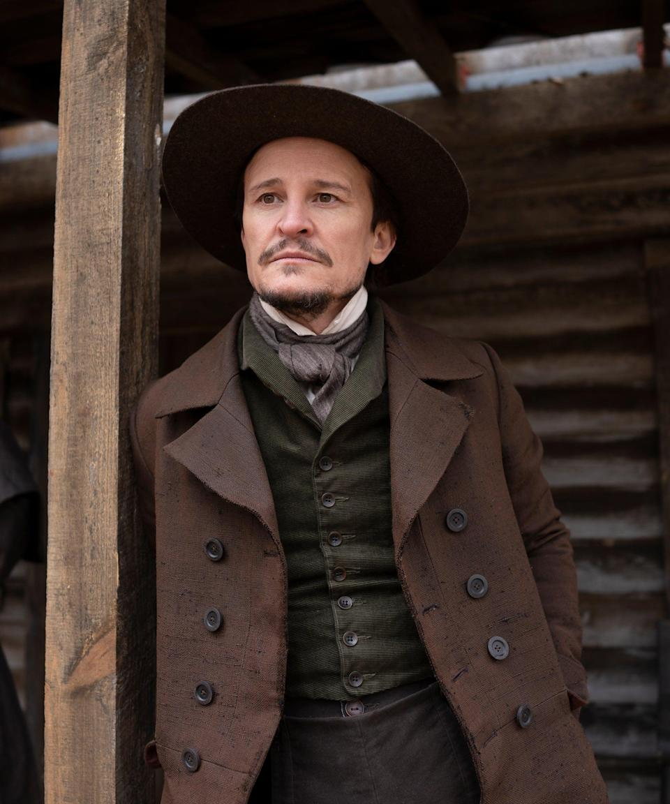 """<h2>Damon Herriman plays Martin<br></h2><br>Martin is a station agent based in North Carolina who takes Cora in after she escapes South Carolina. His life in an overtly religious and racist town and his marriage to Ethel, a bigot, make him a nervous wreck who must hide his involvement in the abolitionist movement.<br><br>The Australian actor has portrayed Charles Manson twice in his career, on <a href=""""https://www.refinery29.com/en-us/2019/08/240391/mindhunter-who-plays-charles-manson"""" rel=""""nofollow noopener"""" target=""""_blank"""" data-ylk=""""slk:Netflix's"""" class=""""link rapid-noclick-resp"""">Netflix's </a><em><a href=""""https://www.refinery29.com/en-us/2019/08/240391/mindhunter-who-plays-charles-manson"""" rel=""""nofollow noopener"""" target=""""_blank"""" data-ylk=""""slk:Mindhunter"""" class=""""link rapid-noclick-resp"""">Mindhunter</a></em> and in <em><a href=""""https://www.refinery29.com/en-us/2019/08/239611/bruce-lee-mockery-once-upon-a-time-in-hollywood"""" rel=""""nofollow noopener"""" target=""""_blank"""" data-ylk=""""slk:Once Upon a Time in Hollywood"""" class=""""link rapid-noclick-resp"""">Once Upon a Time in Hollywood</a></em>. Herriman also starred as Dewey Crowe in <em>Justified</em> from 2010 to 2015.<span class=""""copyright"""">Photo: Courtesy of Amazon Studios.</span>"""