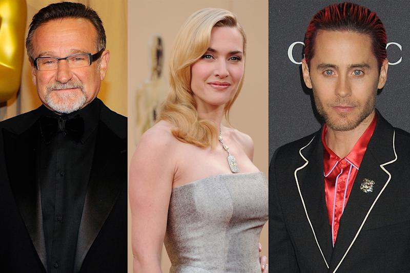 Robin Williams, Kate Winslet, and Jared Leto were three of the names mentioned on a thread about celebs doing good. (Photo: Getty Images)