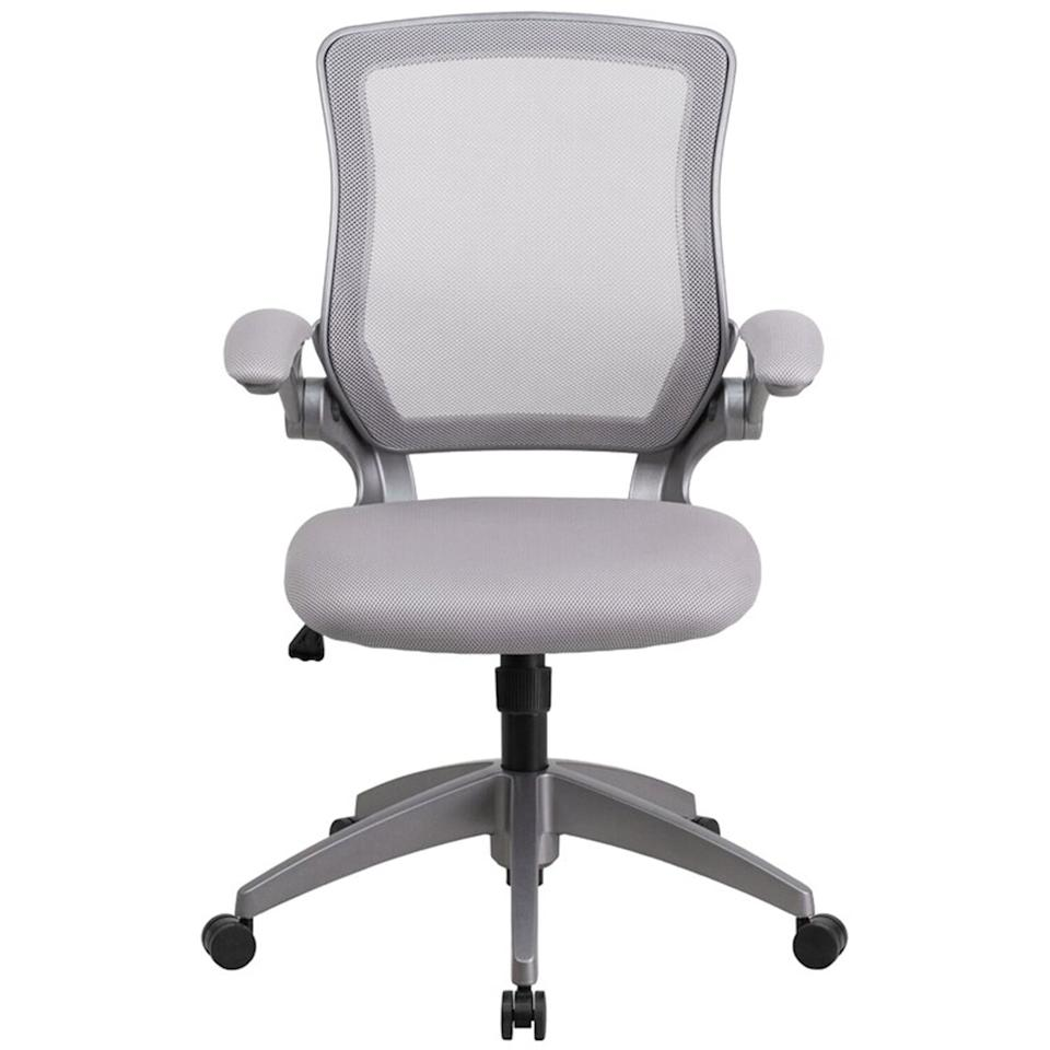 "<p>If you are looking for an ergonomically designed office chair, consider this one from Ebern Design. Along with lumbar support and padded flip-up armrests, this model boasts a back tilt and seat height adjustment capabilities, so you can modify the chair to suit your needs. ""Very comfortable chair,"" raved one customer. ""I suffer from back pain, and this chair is for sure what I need. It's very light, and I love that the arms [are adjustable], so when I'm not sitting it fits great under the desk for a more convenient use of space."" </p> <p><strong>To buy:</strong> $160 (was $250); <a href=""http://www.anrdoezrs.net/links/7876406/type/dlg/sid/RS%2CThe7MostComfortableHomeOfficeChairs%252CAccordingtoThousandsofReviews%2Cjmastrop%2CHOM%2CIMA%2C698225%2C202003%2CI/http://www.wayfair.com/furniture/pdp/ebern-designs-balogh-ergonomic-task-chair-ebdg1929.html"" target=""_blank"">wayfair.com</a>.</p>"