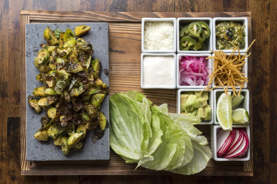 Brussels sprouts tacos